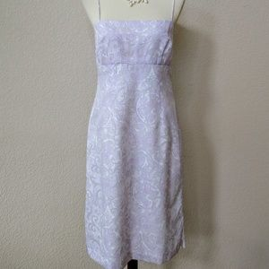 Banana Republic pastel lilac and white dress